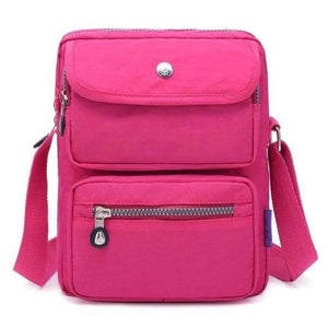 Rose crossbody nylon bag women