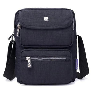 Black crossbody nylon bag women