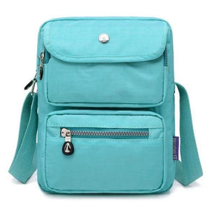 Emerald crossbody nylon bag women