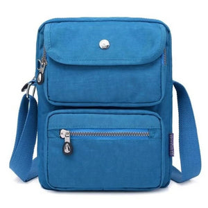 Sea blue crossbody nylon bag women