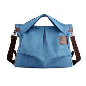 Blue extra-large canvas messenger