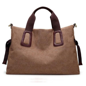 Brown 17 inches laptop women bag