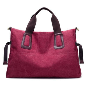 17 inches laptop burgundy canvas bag
