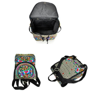 Embroidery women backpack for women