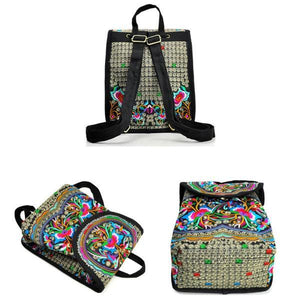 Colorful embroidery backpack
