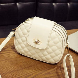 White crossbody bag with triple zipper pocket