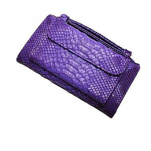 Purple wallet purse with handle
