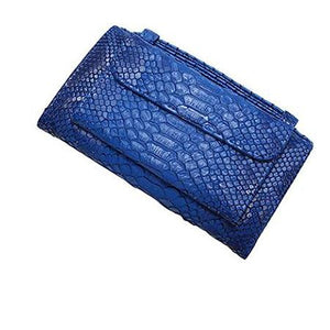Blue wallet purse with handle