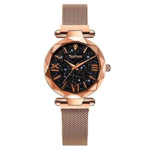 Gold color Magnetic Wrist Watch