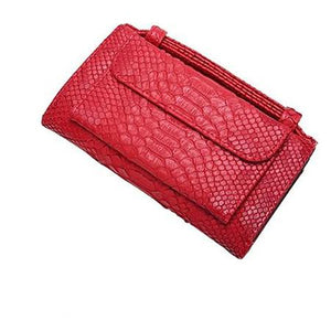Red wallet purse with handle