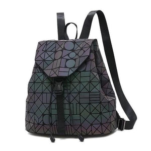 Luminous Reflective Backpack for Women, light gray