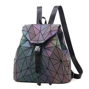 Luminous Reflective Backpack for Women, clear