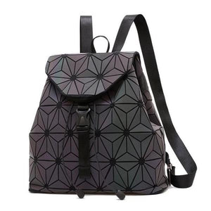 geometric luminous backpack design