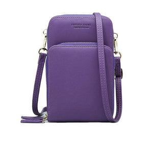Purple small crossbody bag cell phone purse