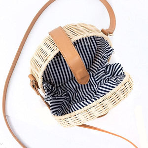 rattan bag with compartment