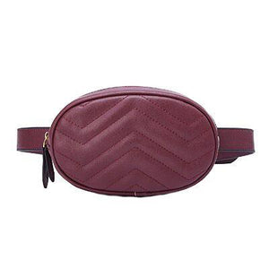 Burgundy leather fanny pack