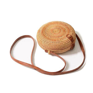 round bali rattan bag for women