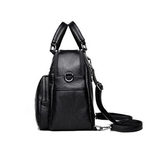 side leather backpack purse