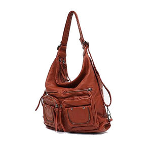 Brown Crossbody backpack purse