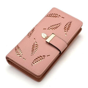 Pink cute wallets for women with wristlet