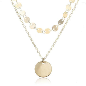 Gold coins necklace chocker for women