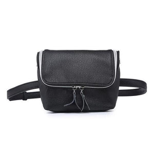 Black Convertible fanny pack purse with shoulder strap