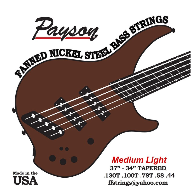 Payson Fanned Nickel Steel-Medium Light Bass Strings