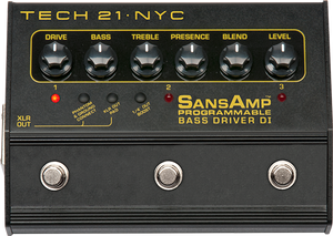 Tech 21 SansAmp Bass Driver Programmable DI/Preamp [AVAILABLE TO ORDER]