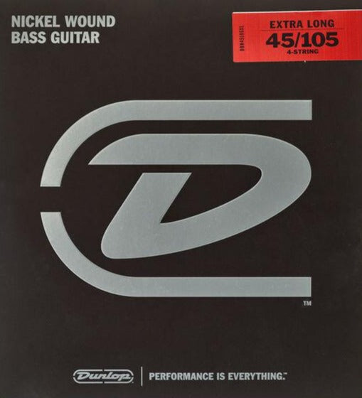 Dunlop Nickel Wound Steel Medium Gauge 45-105 Extra Long Scale Bass Strings - DBN45105XL