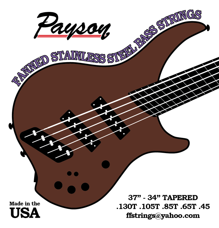 Payson Fanned Stainless Steel Bass Strings
