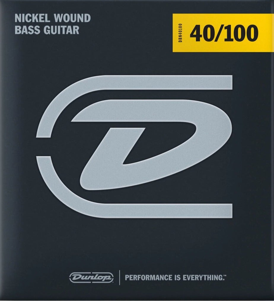 Dunlop Nickel Wound Steel Light Gauge 40-100 Bass Strings - DBN40100