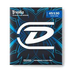Dunlop String Lab Series Robert Trujillo Stainless Steel Tapered Bass Strings 45-130