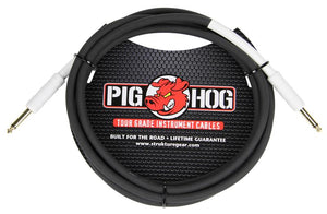 "PIG HOG 10FT 1/4"" - 1/4"" 8MM INSTRUMENT CABLE"