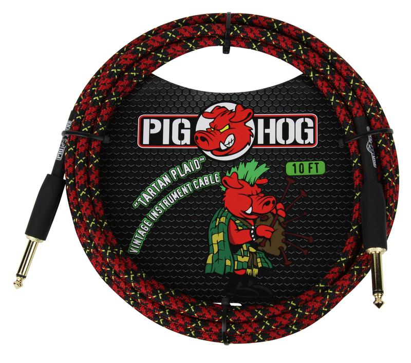 "PIG HOG ""TARTAN PLAID"" INSTRUMENT CABLE, 10FT"