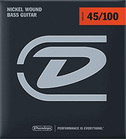 Dunlop Nickel Wound Steel Medium Light Gauge 45-100 Bass Strings - DBN45100