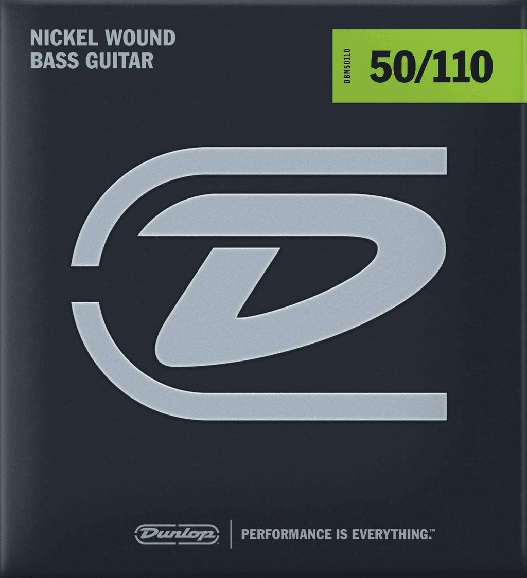 Dunlop Nickel Wound Steel Heavy Gauge 50-110 Bass Strings - DBN50110
