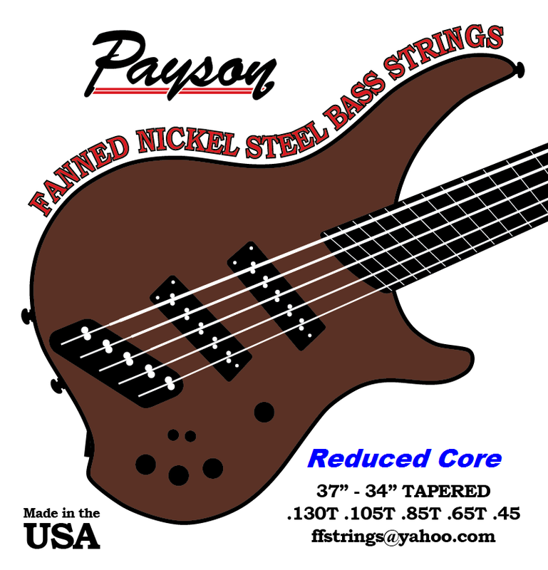 Payson Fanned Nickel Steel-Reduced Core Bass Strings