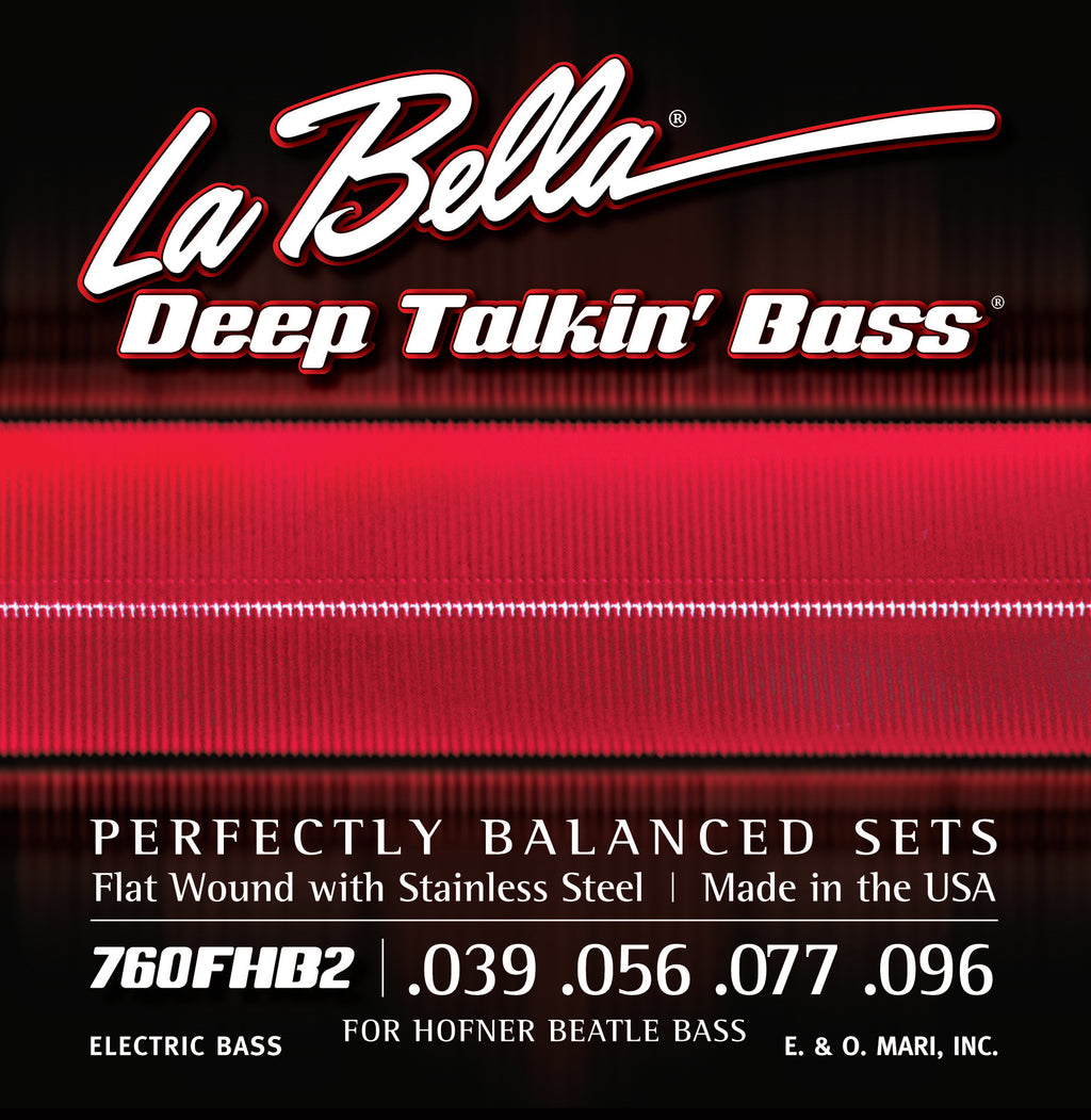 "La Bella 760FHB2 ""Beatle"" Bass Stainless Flats – 39-96"