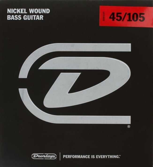 Dunlop Nickel Wound Steel Medium Gauge 45-105 Bass Strings - DBN45105