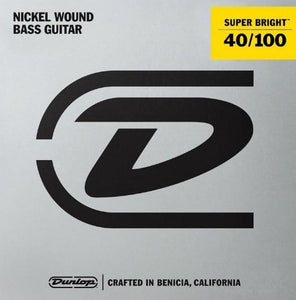 Dunlop Super Bright Nickel Wound Light Gauge 40-100 Bass Strings - DBSBN40100