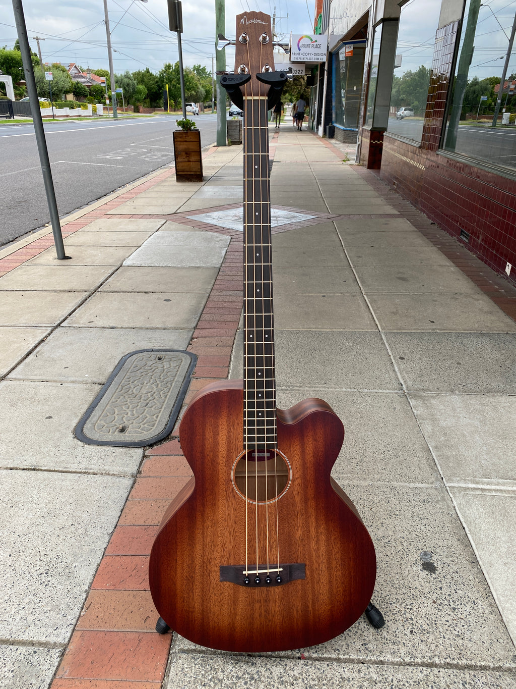 Martinez Southern Star Solid Mahogany Top Acoustic Bass With Case
