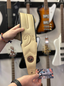 "Ergo-Straps Custom Shop FA Special 4"" All Vintage White (Padded, Genuine Leather)"