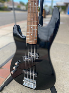 Aria STB-PJ Bass Guitar - Black (Left Handed)