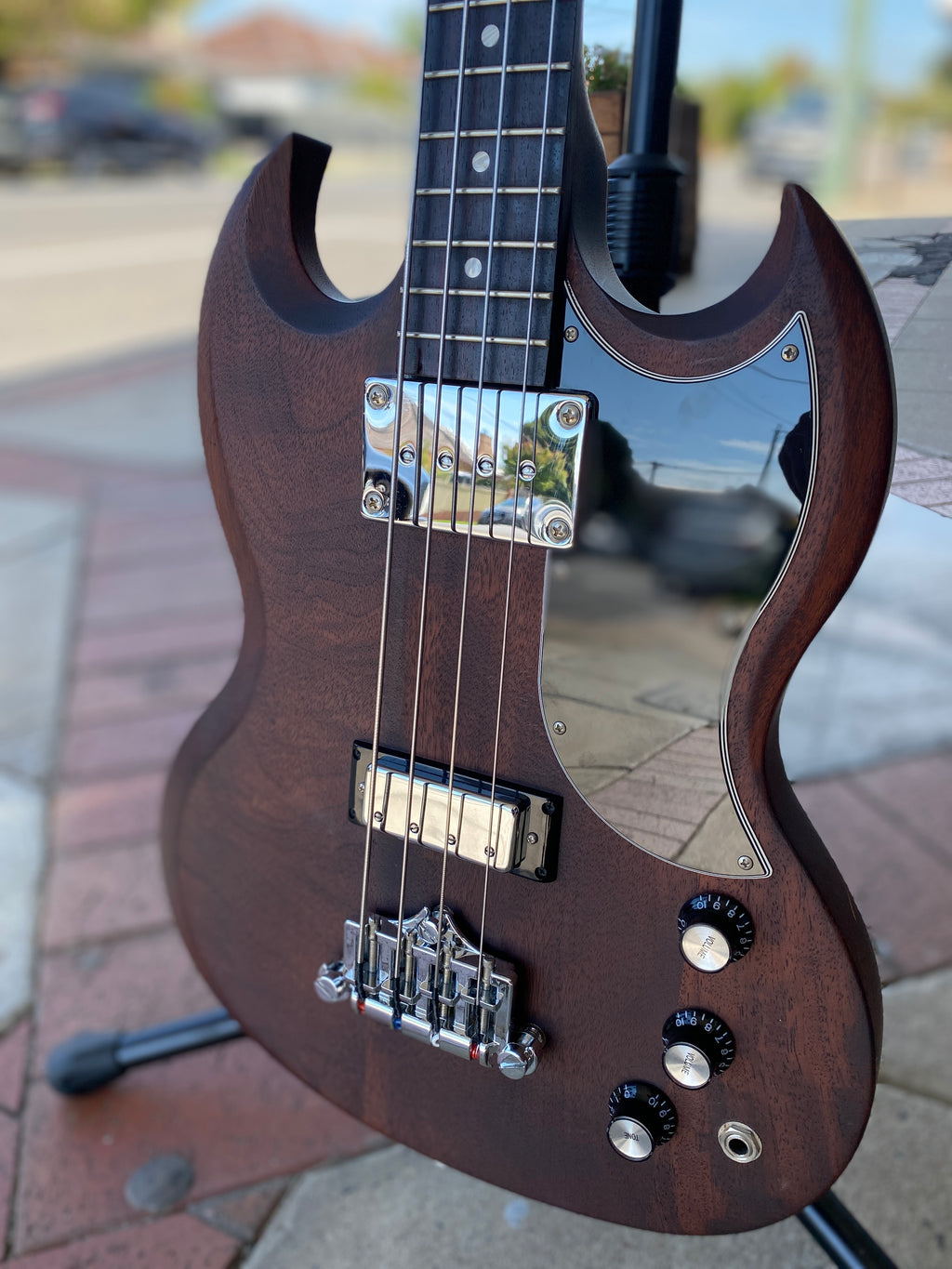 Gibson 120th Anniversary 2014 SG Bass - Worn Brown (s/hand) -On Layby