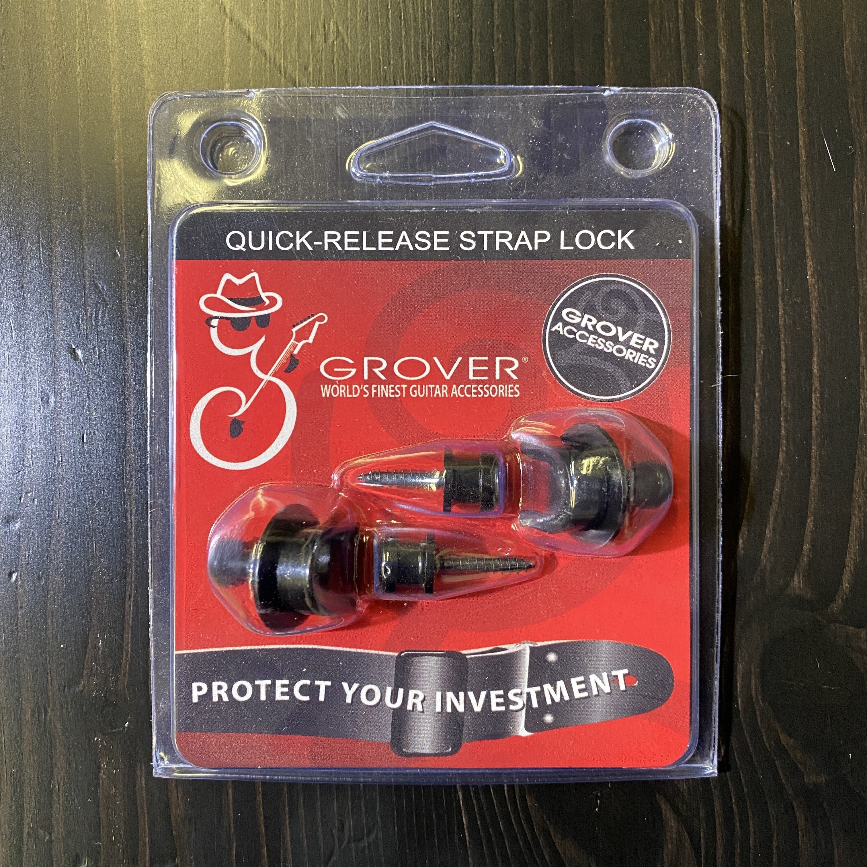 Grover Quick Release Strap Locks Set Black