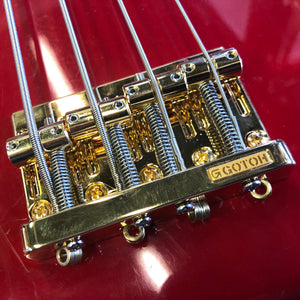Gotoh 201B 4 String Bass Bridge Gold