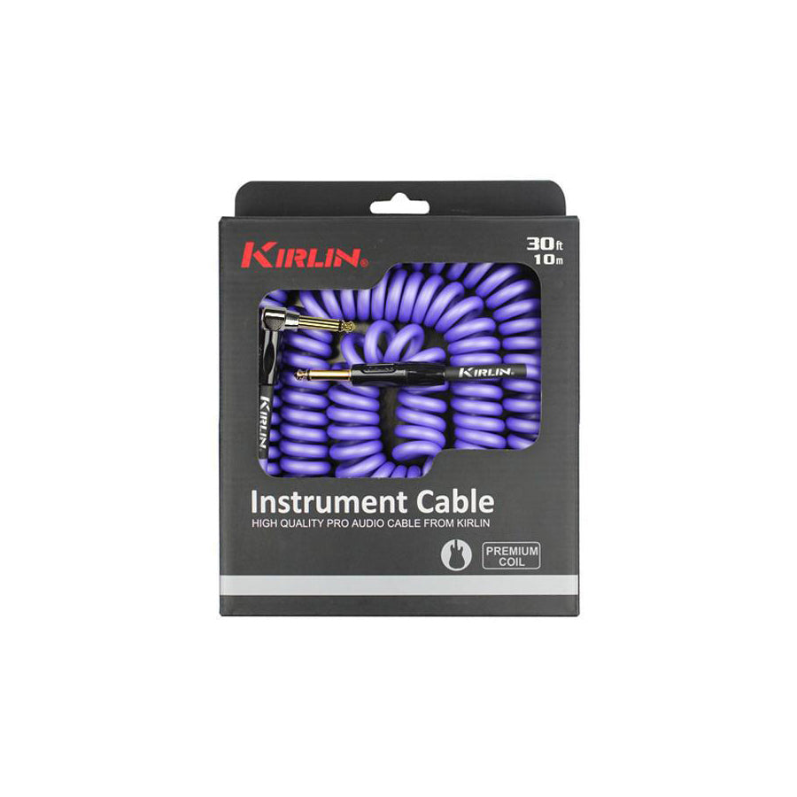 Kirlin 30FT Premium Right Angle Coil Cable Purple