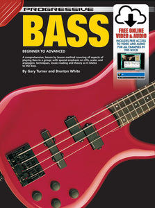 Progressive Bass Guitar Book/Online Video & Audio