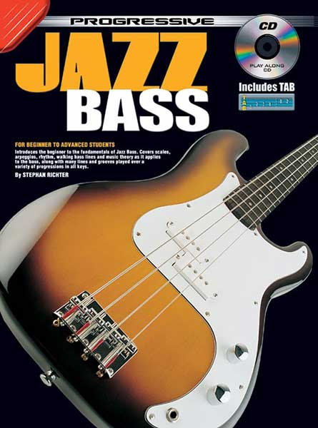 Progressive Jazz Bass Book/CD