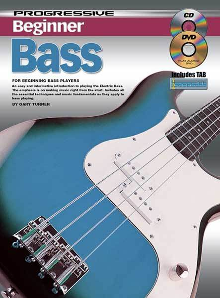 Progressive Beginner Bass Book/CD/DVD